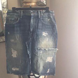 Polo Jean Pencil Skirt